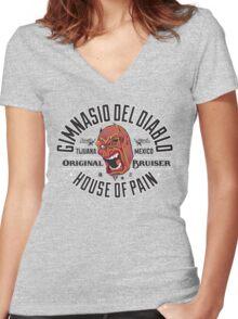 Devil's Gym Women's Fitted V-Neck T-Shirt