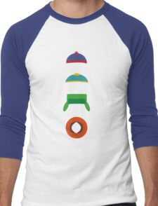 Minimalist cool south park design Men's Baseball ¾ T-Shirt