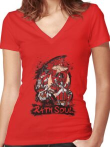 Rath Soul Women's Fitted V-Neck T-Shirt