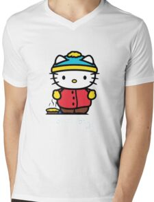 Carmen Hello Kitty Pot Pie Mens V-Neck T-Shirt