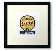 KEO Beer [Logo] Framed Print