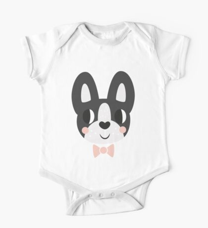 Boston Terrier With A Bow Tie One Piece - Short Sleeve