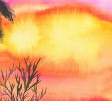 Watercolor landscape Sticker