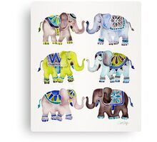 Elephant Collection – Cool Palette Canvas Print