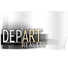 Depart Reality Artistic Logo Poster