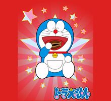 Doraemon Eats Stars Womens Fitted T-Shirt