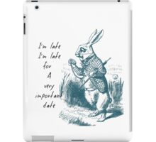 White Rabbit Late iPad Case/Skin
