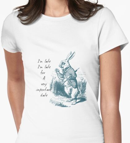 White Rabbit Late Womens Fitted T-Shirt