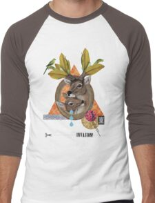 Animal Collection -- Oh Deer Men's Baseball ¾ T-Shirt