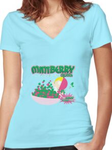Mint Berry Crunch South Park Women's Fitted V-Neck T-Shirt
