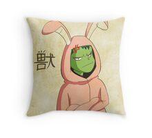 Beast Boy in a bunny suit (Emaki) Throw Pillow