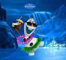 Hawaiian dressed Olaf by Princess1222