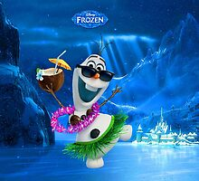 Hawaiian dressed Olaf by Princess1222