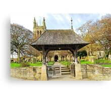Lych Gate to All Saints Church, Helmsley Canvas Print