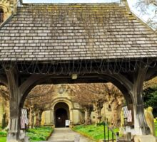 Lych Gate to All Saints Church, Helmsley Sticker