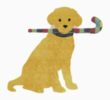 Yellow Lab Retriever Field Hockey Dog One Piece - Short Sleeve