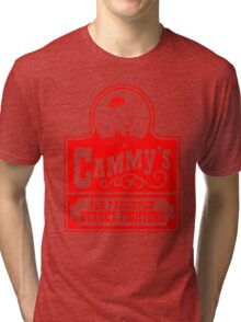 Cammy's Old Fashioned Street Fighting RED STENCIL Tri-blend T-Shirt