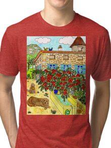 Beautiful Farm of Brigaudière Tri-blend T-Shirt
