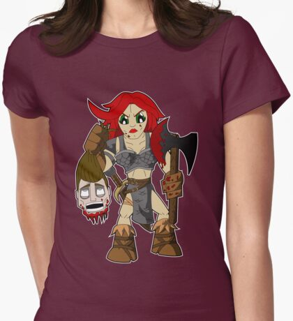 Red Sonja Womens Fitted T-Shirt
