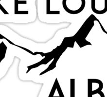 LAKE LOUISE ALBERTA CANADA SKIING MOUNTAINS SNOWBOARDING BANFF Sticker