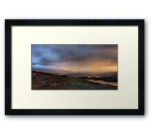 Scottish Highlands Sunset Framed Print