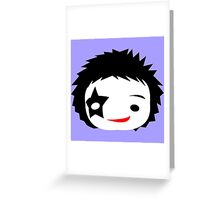 KISS - Starchild Paul Stanley Chibi Greeting Card