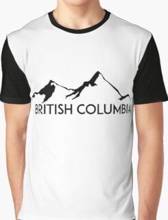 BRITISH COLUMBIA CANADA SKIING SNOWBOARDING MOUNTAINS SKI Graphic T-Shirt