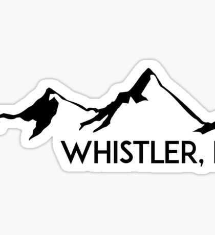 WHISTLER BRITISH COLUMBIA CANADA SKIING SNOWBOARDING MOUNTAINS SKI 3 Sticker