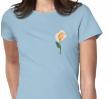 Apricot Rose  Womens Fitted T-Shirt
