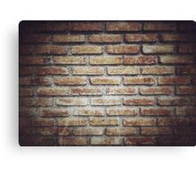 Old grunge block brick wall background with retro effect filter - texture Canvas Print