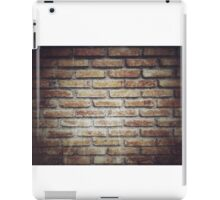 Old grunge block brick wall background with retro effect filter - texture iPad Case/Skin