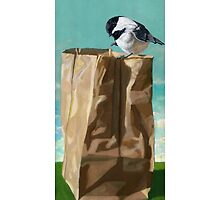 What's In The Bag? - original realistic painting by LindaAppleArt