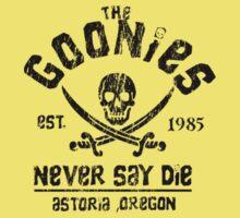 The Goonies - Naver Say Die - Black on White One Piece - Short Sleeve