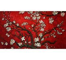 Van Gogh Red Almond Blossoms Tilt Shift Photographic Print