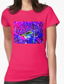 Psychedelic Frog Womens Fitted T-Shirt