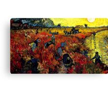 Van Gogh Red Vineyard Tilt Shift Canvas Print