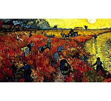 Van Gogh Red Vineyard Tilt Shift Photographic Print
