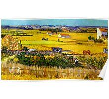 Van Gogh Hay Stack Tilt Shift Poster