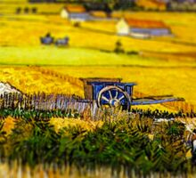 Van Gogh Hay Stack Tilt Shift Sticker