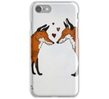 Vulpes in Love iPhone Case/Skin