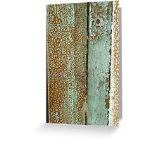 Weathered ~ Peeling Paint © Greeting Card
