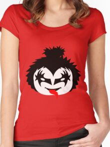 KISS - The Demon Gene Simmons Chibi Women's Fitted Scoop T-Shirt