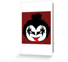KISS - The Demon Gene Simmons Chibi Greeting Card