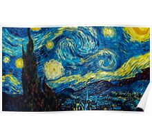 Van Gogh Starry Night Tilt Shift Poster