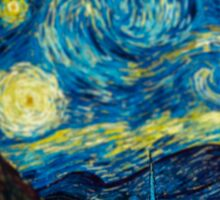 Van Gogh Starry Night Tilt Shift Sticker