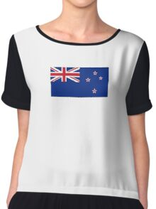 New Zealand, New Zealand Flag, Flag of New Zealand, Pure & Simple Chiffon Top
