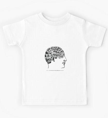 phrenological organs symbolically - gift idea Kids Tee