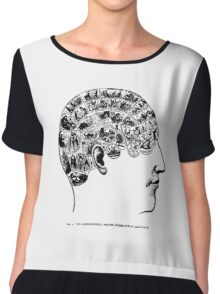 phrenological organs symbolically - gift idea Chiffon Top