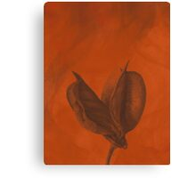 Lonesome Flower - Oil Style Canvas Print