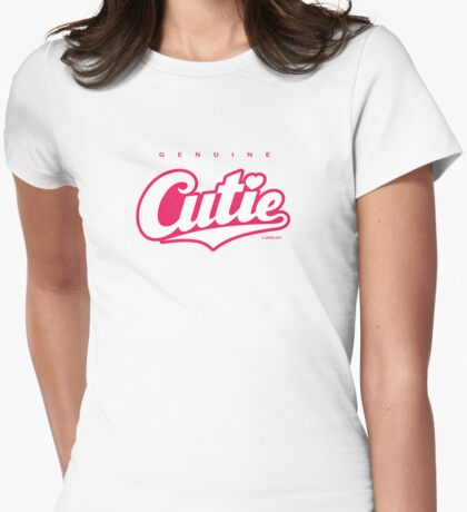GenuineTee - Cutie (white/pink) T-Shirt